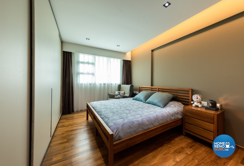 Contemporary, Modern Design - Bedroom - HDB 4 Room - Design by Spacious Planners Pte Ltd