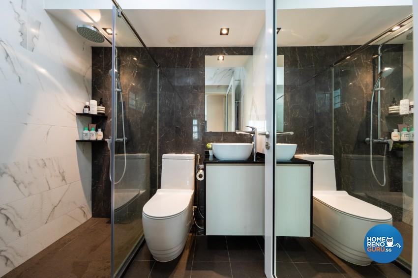 Contemporary, Modern Design - Bathroom - HDB 4 Room - Design by Spacious Planners Pte Ltd