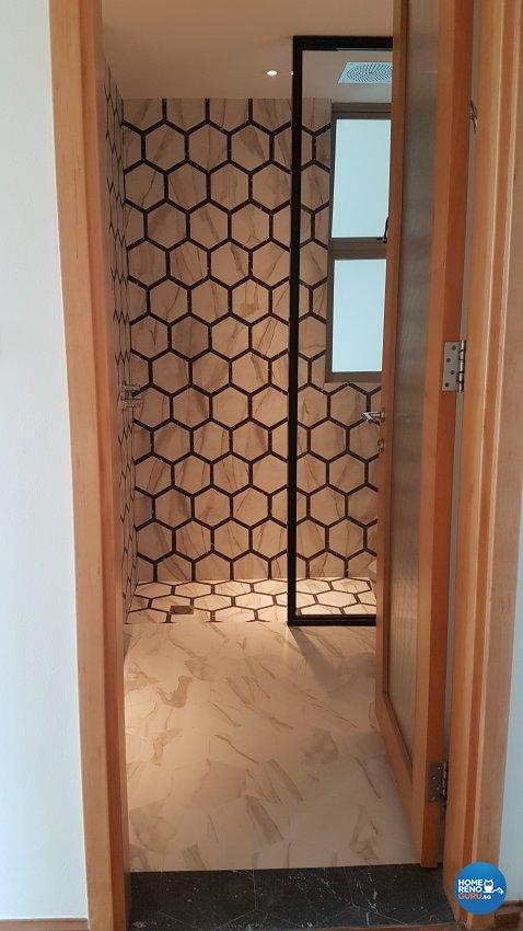 Minimalist, Modern Design - Bathroom - Condominium - Design by Spire Id Pte Ltd