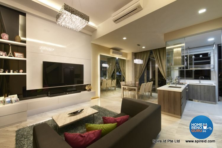 Classical, Contemporary Design - Living Room - Condominium - Design by Spire Id Pte Ltd