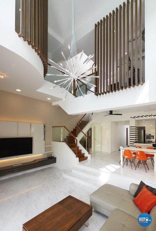 Modern Design - Living Room - Landed House - Design by Spire Id Pte Ltd