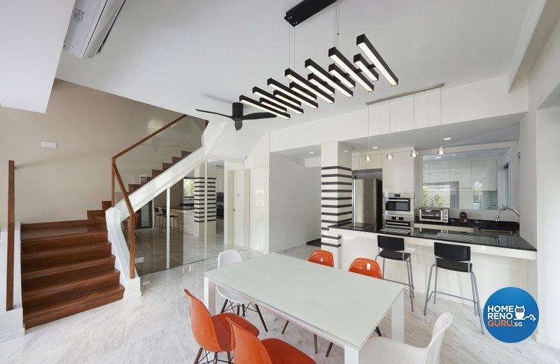 Modern Design - Dining Room - Landed House - Design by Spire Id Pte Ltd