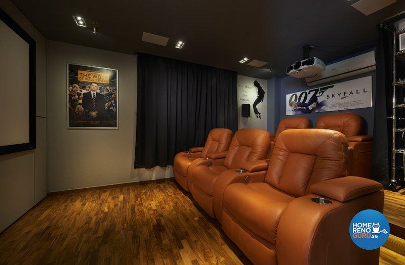 Modern Design - Entertainment Room - Landed House - Design by Spire Id Pte Ltd