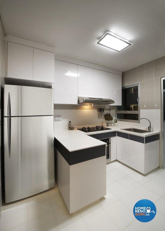 Minimalist, Modern Design - Kitchen - HDB 4 Room - Design by Spire Id Pte Ltd