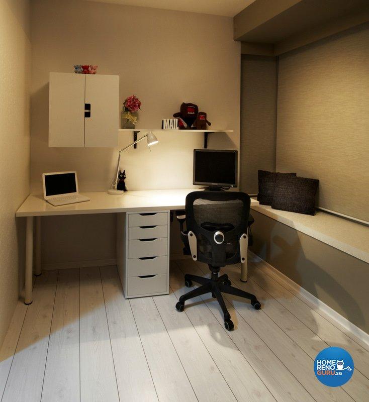 Minimalist, Modern Design - Study Room - HDB 4 Room - Design by Spire Id Pte Ltd