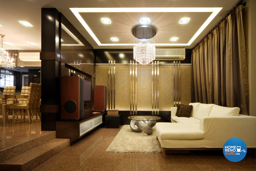 Classical Design - Living Room - Landed House - Design by Square Room Decor Pte Ltd