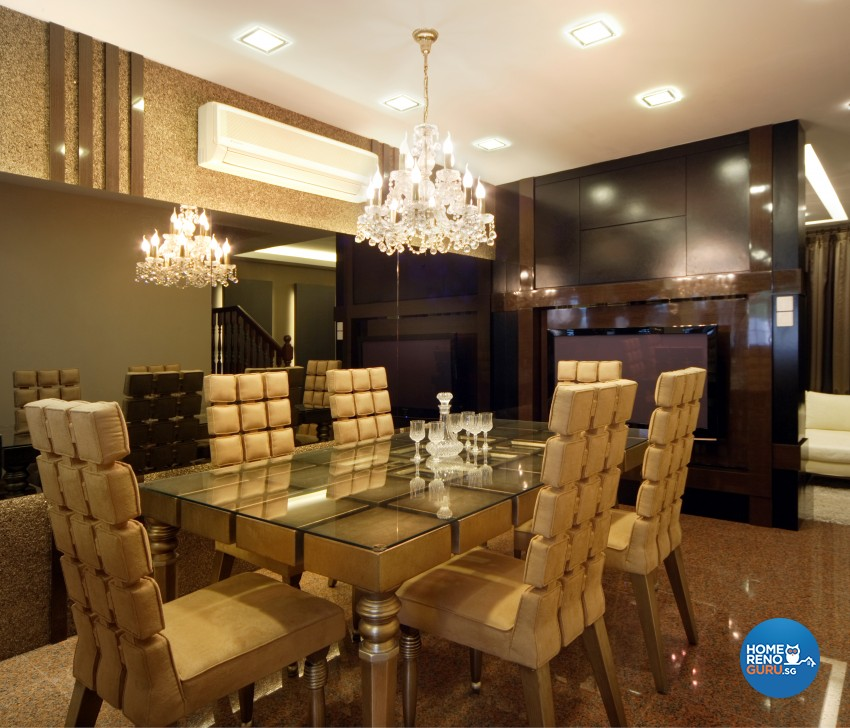 Classical Design - Dining Room - Landed House - Design by Square Room Decor Pte Ltd
