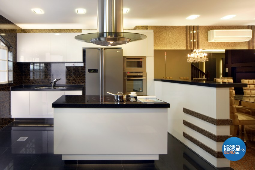Classical Design - Kitchen - Landed House - Design by Square Room Decor Pte Ltd