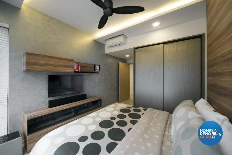 Contemporary, Modern Design - Bedroom - HDB 4 Room - Design by Square Room Decor Pte Ltd