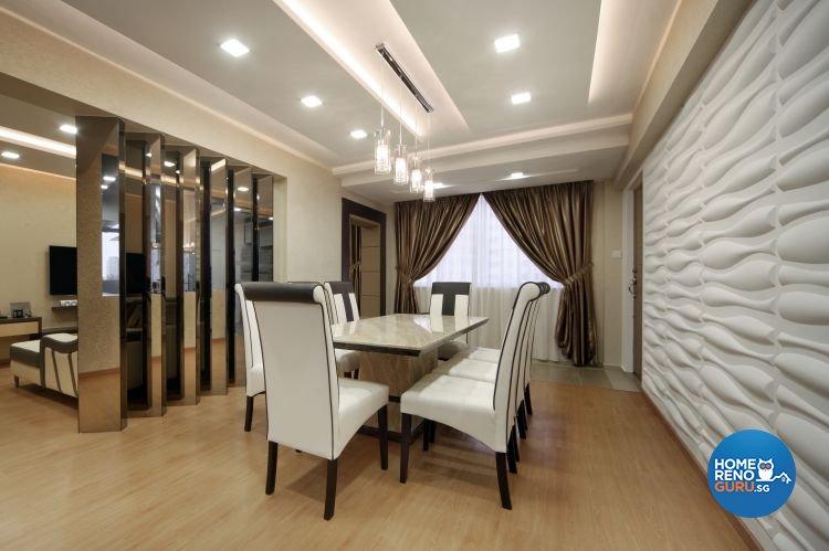 Contemporary, Modern Design - Dining Room - HDB 4 Room - Design by Square Room Decor Pte Ltd