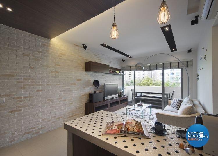 Contemporary, Modern Design - Living Room - HDB 4 Room - Design by Square Room Decor Pte Ltd