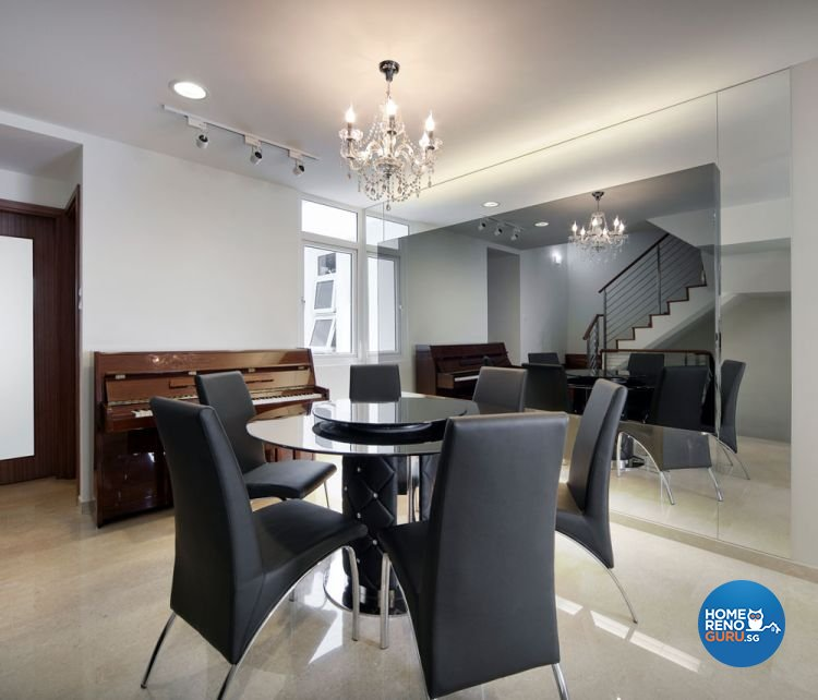 Contemporary, Minimalist Design - Dining Room - Landed House - Design by Square Room Decor Pte Ltd