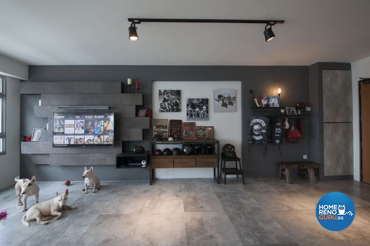 Eclectic, Industrial, Minimalist Design - Living Room - HDB 5 Room - Design by Starry Homestead Pte Ltd