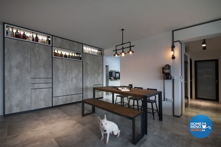 Eclectic, Industrial, Minimalist Design - Dining Room - HDB 5 Room - Design by Starry Homestead Pte Ltd