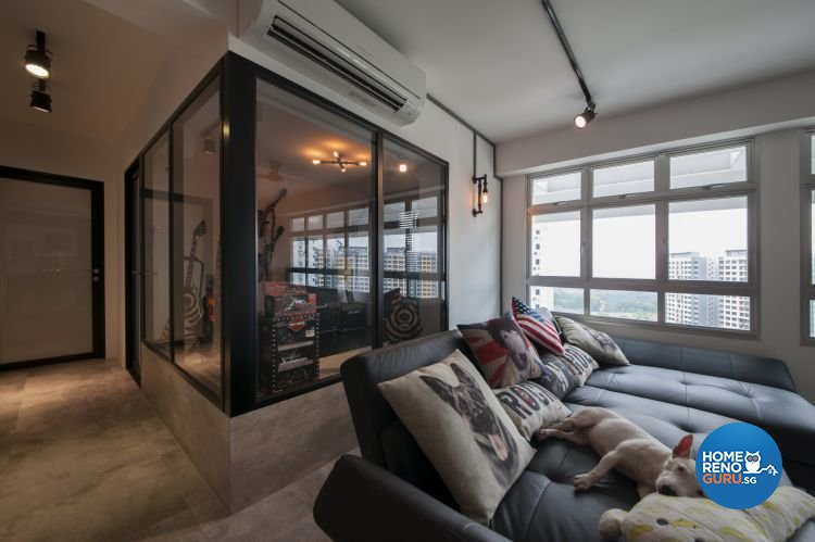 Eclectic, Industrial, Minimalist Design - Study Room - HDB 5 Room - Design by Starry Homestead Pte Ltd