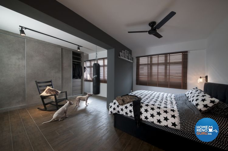 Eclectic, Industrial, Minimalist Design - Bedroom - HDB 5 Room - Design by Starry Homestead Pte Ltd