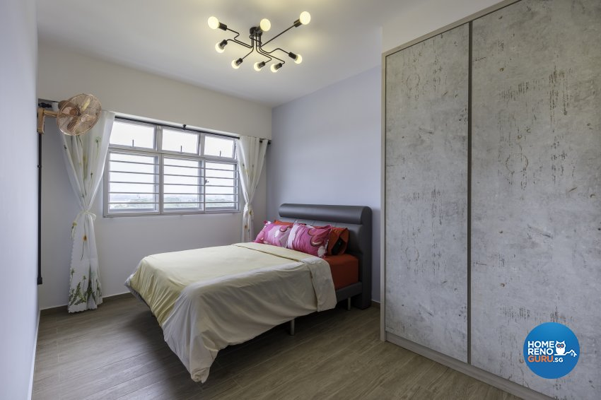 Industrial Design - Bedroom - HDB 4 Room - Design by Starry Homestead Pte Ltd
