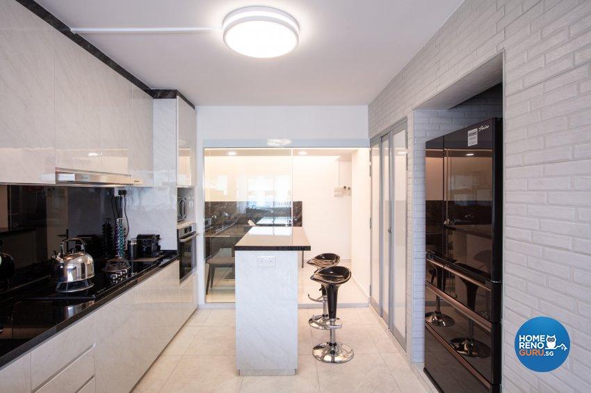 Modern Design - Kitchen - HDB 4 Room - Design by Starry Homestead Pte Ltd