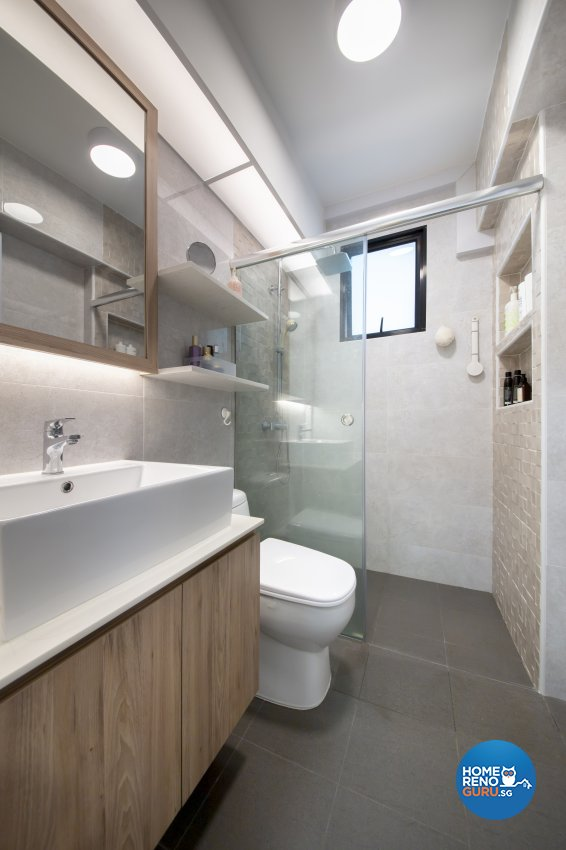 Scandinavian Design - Bathroom - HDB 4 Room - Design by Starry Homestead Pte Ltd
