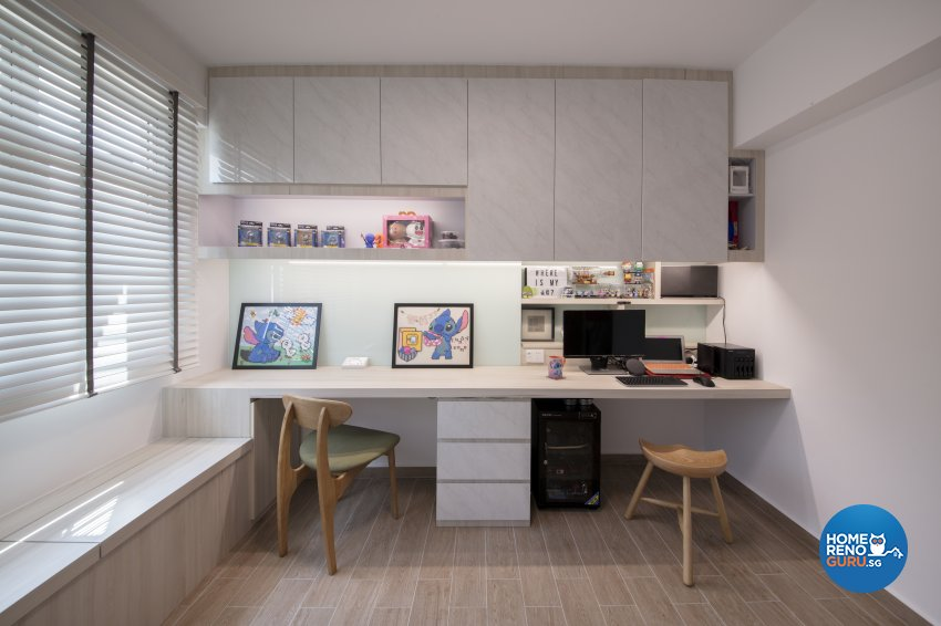 Scandinavian Design - Study Room - HDB 4 Room - Design by Starry Homestead Pte Ltd