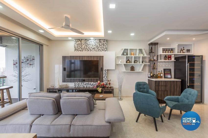 Modern, Rustic Design - Living Room - Condominium - Design by Starry Homestead Pte Ltd