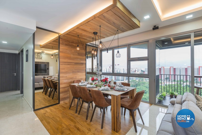 Modern, Rustic Design - Dining Room - Condominium - Design by Starry Homestead Pte Ltd