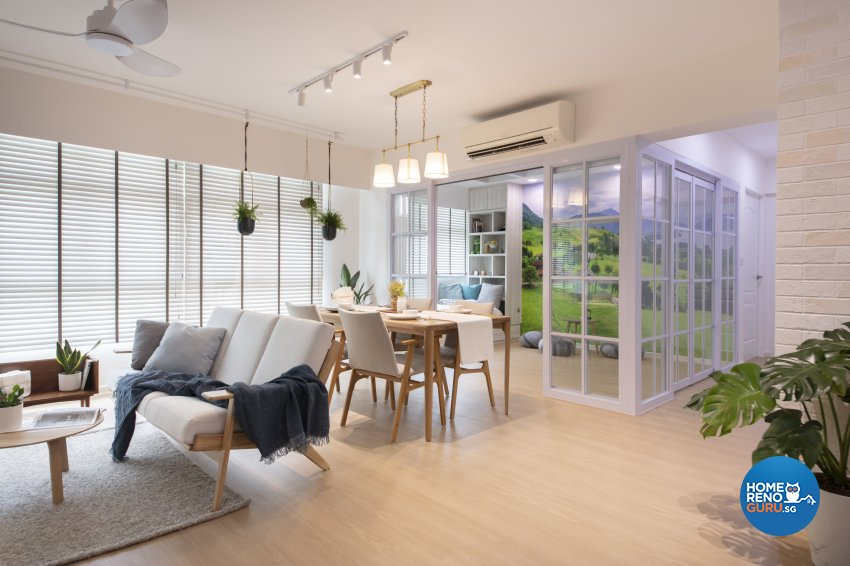 Country, Modern Design - Living Room - HDB 5 Room - Design by Starry Homestead Pte Ltd