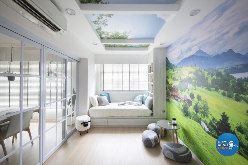 Country, Modern Design - Bedroom - HDB 5 Room - Design by Starry Homestead Pte Ltd