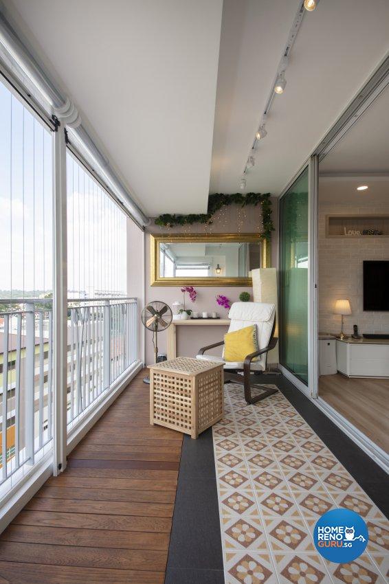 Scandinavian Design - Balcony - HDB 5 Room - Design by Starry Homestead Pte Ltd