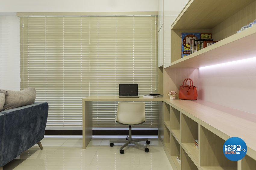 Scandinavian Design - Study Room - HDB 5 Room - Design by Starry Homestead Pte Ltd