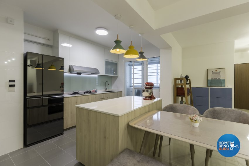Scandinavian Design - Kitchen - HDB 5 Room - Design by Starry Homestead Pte Ltd