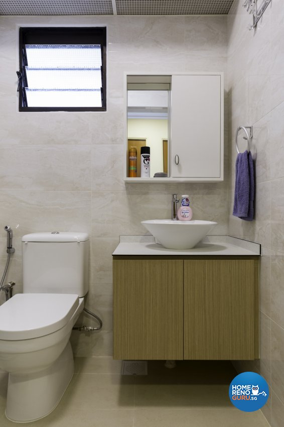Scandinavian Design - Bathroom - HDB 3 Room - Design by Starry Homestead Pte Ltd