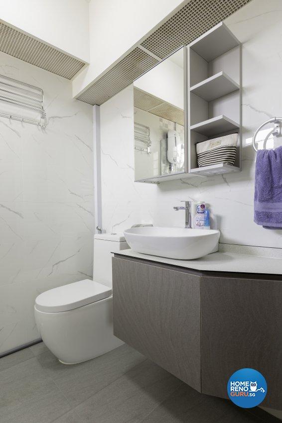 Scandinavian Design - Bathroom - HDB 3 Room - Design by Starry Homestead Pte Ltd