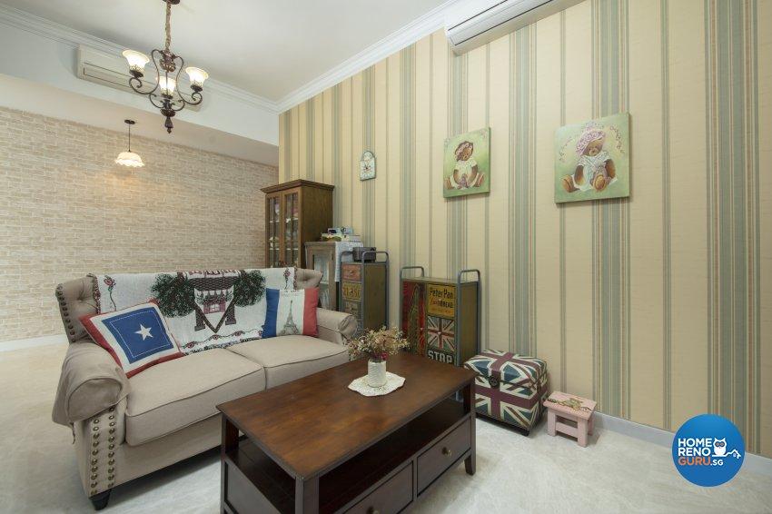 Country Design - Living Room - Condominium - Design by Starry Homestead Pte Ltd