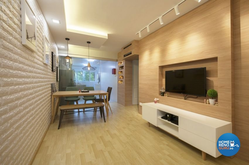 Scandinavian Design - Living Room - HDB 3 Room - Design by Starry Homestead Pte Ltd