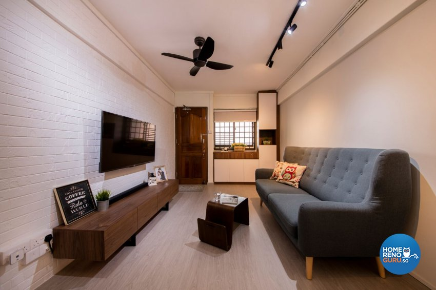 Scandinavian Design - Living Room - HDB 3 Room - Design by Starry Homestead Pte Ltd