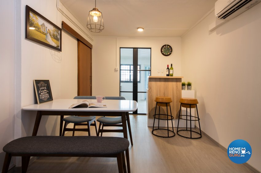 Scandinavian Design - Dining Room - HDB 3 Room - Design by Starry Homestead Pte Ltd