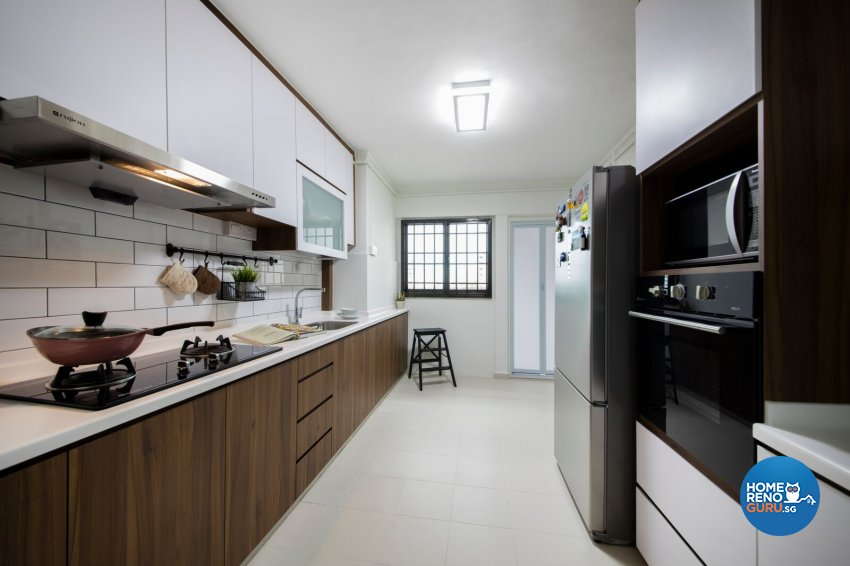 Scandinavian Design - Kitchen - HDB 3 Room - Design by Starry Homestead Pte Ltd