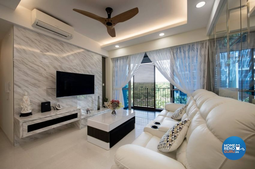 Modern Design - Living Room - HDB 3 Room - Design by Starry Homestead Pte Ltd