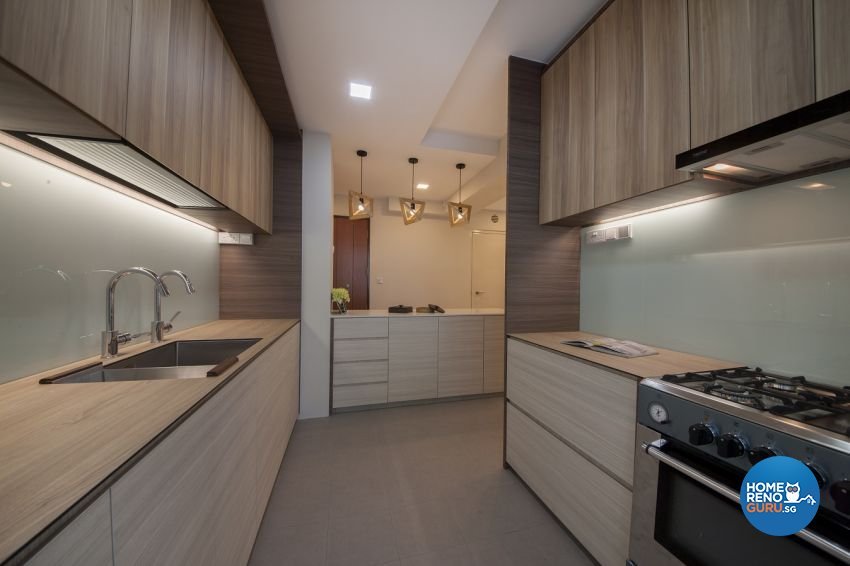 Minimalist, Scandinavian Design - Kitchen - HDB 3 Room - Design by Starry Homestead Pte Ltd