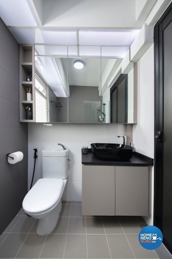 Industrial, Modern Design - Bathroom - HDB 5 Room - Design by Starry Homestead Pte Ltd
