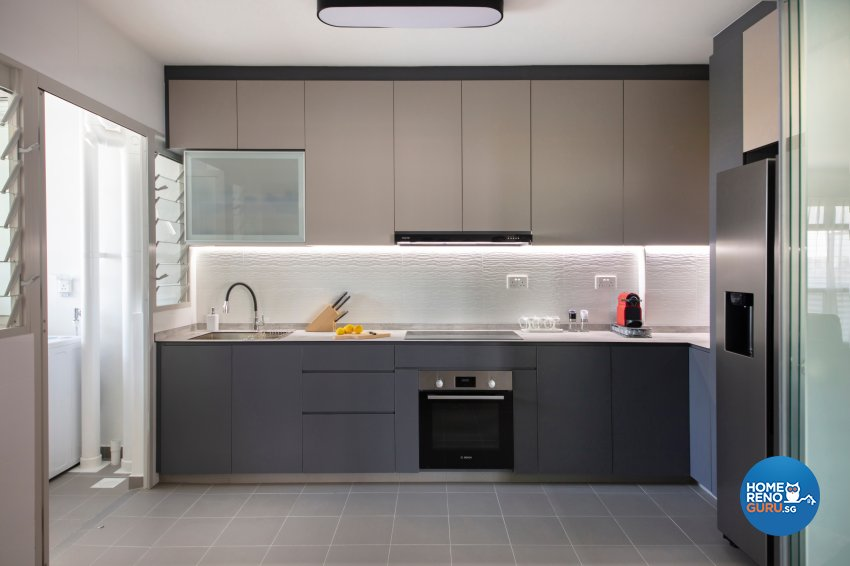 Industrial, Modern Design - Kitchen - HDB 5 Room - Design by Starry Homestead Pte Ltd