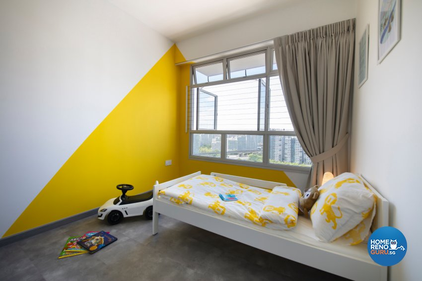 Industrial, Modern Design - Bedroom - HDB 5 Room - Design by Starry Homestead Pte Ltd