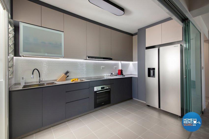 Industrial, Modern Design - Kitchen - HDB 5 Room - Design by Starry Homestead Pte Ltd