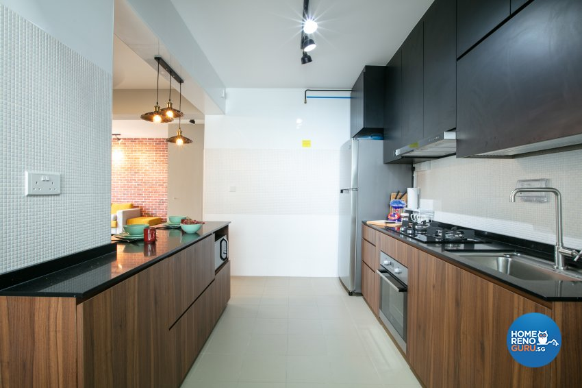 Industrial Design - Kitchen - HDB 4 Room - Design by Starry Homestead Pte Ltd