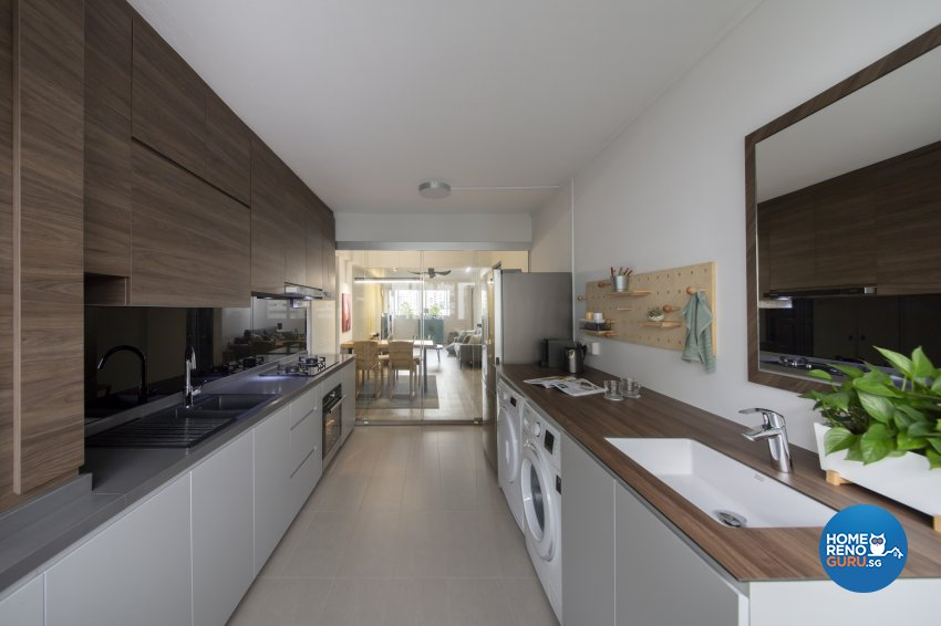 Industrial, Scandinavian Design - Kitchen - HDB 4 Room - Design by Starry Homestead Pte Ltd