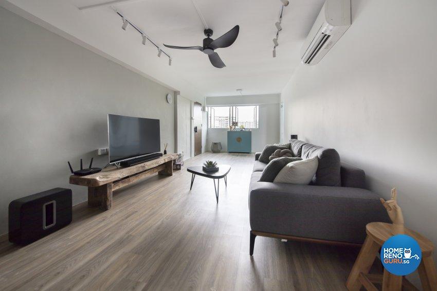 Industrial, Scandinavian Design - Living Room - HDB 4 Room - Design by Starry Homestead Pte Ltd