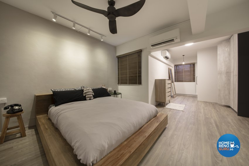 Industrial, Scandinavian Design - Bedroom - HDB 4 Room - Design by Starry Homestead Pte Ltd