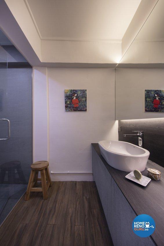 Industrial, Scandinavian Design - Bathroom - HDB 4 Room - Design by Starry Homestead Pte Ltd