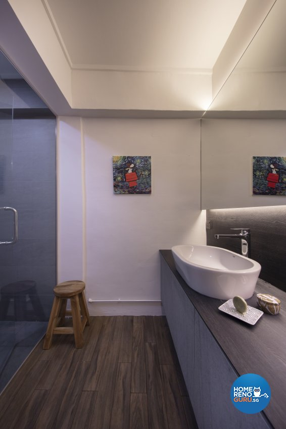 Industrial, Scandinavian Design - Bathroom - HDB 4 Room - Design by Starry Homestead Pte Ltd